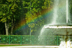 Rainbow and Fountain Stock Images