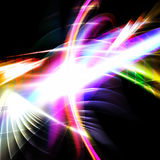 Rainbow Fractal Abstract. A glowing fractal design that works great as a background or backdrop Royalty Free Stock Photos