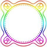 Rainbow frame border card Royalty Free Stock Images