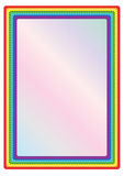 Rainbow Frame_eps. Illustration of rainbow frame with star on white background Stock Photography