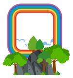 Rainbow frame over the mountain Royalty Free Stock Photos