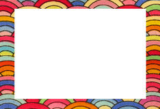 rainbow frame with space to write your text Stock Photography