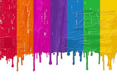 Rainbow fresh paint Royalty Free Stock Images