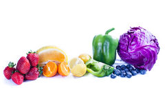 Rainbow of Fruit Royalty Free Stock Photos