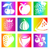 Rainbow fruits Stock Photography