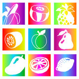 Rainbow fruits Stock Images