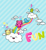 Rainbow fun Royalty Free Stock Images