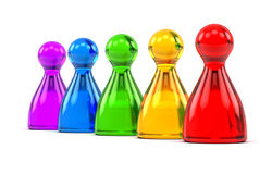 Rainbow game figures Royalty Free Stock Image