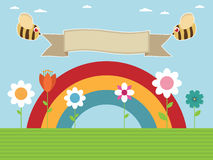 Rainbow garden Royalty Free Stock Photography