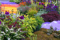 Rainbow garden Royalty Free Stock Image