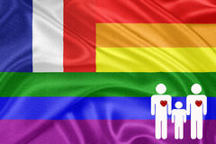 Rainbow gay Flag Royalty Free Stock Images