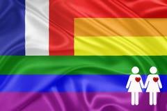 Rainbow gay Flag Stock Images