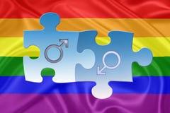 Rainbow gay Flag Royalty Free Stock Image