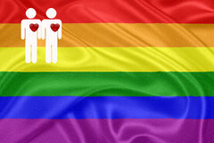 Rainbow gay Flag Stock Photography