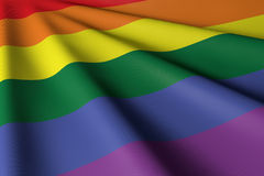 Rainbow Gay Flag - Closeup & Personal Stock Image