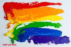 Rainbow Gay Pride Flag. Isolated on white background royalty free stock photo