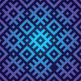 Blue seamless background in folk style Royalty Free Stock Images