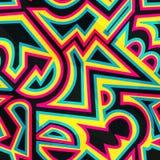 Rainbow geometric seamless pattern. Royalty Free Stock Photo
