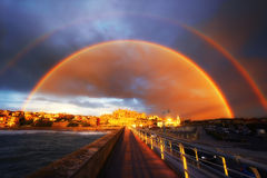 Rainbow in Getxo Royalty Free Stock Photography