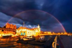 Rainbow in Getxo Stock Images