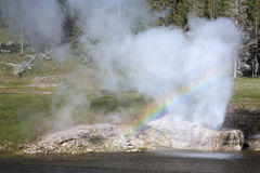 Rainbow in geyser Royalty Free Stock Images