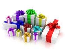 Rainbow gift boxes Royalty Free Stock Photography