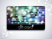 Rainbow gift card Stock Photo