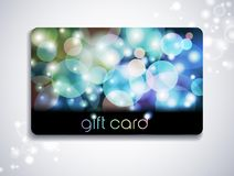 Rainbow gift card Stock Image