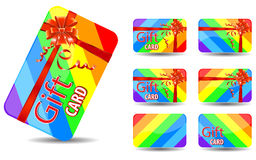 Rainbow gift card. Isolated on white background Royalty Free Stock Photography