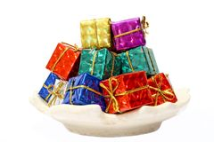 Rainbow gifts. Royalty Free Stock Image