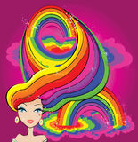 Rainbow girl Stock Photos