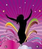 Rainbow girl stock illustration