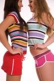 Rainbow girls stock image