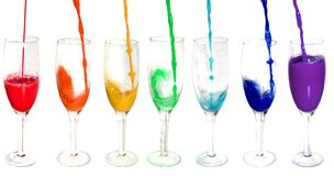 Rainbow from glasses Royalty Free Stock Photography