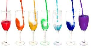 Rainbow from glasses stock illustration