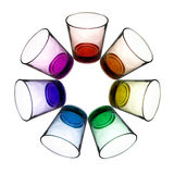 Rainbow glasses circle Royalty Free Stock Photo