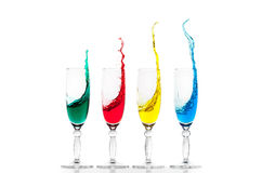 Rainbow in the glasses Stock Photography