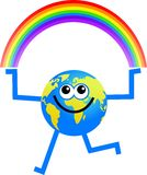 Rainbow globe Stock Images