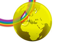 Rainbow globe Stock Photography