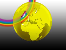 Rainbow globe Stock Photo