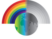 Rainbow globe Royalty Free Stock Images