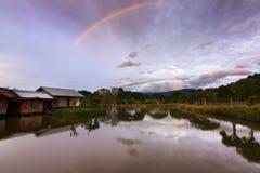 Rainbow on a gloomy weather Stock Photos
