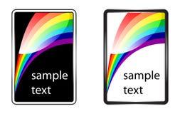Rainbow glossy background. Colorful background. Rainbow glossy set royalty free illustration