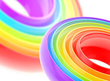 Rainbow glossy stripe abstract background. Rainbow glossy stripe circle colorful abstract background vector illustration