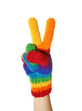 Rainbow Gloves Stock Images