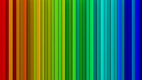 Rainbow gradient lines 3D render. Bright rainbow gradient extruded vertical lines. Computer generated abstract background. Geometric 3D render illustration Vector Illustration