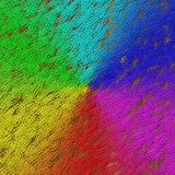 Rainbow gradient paper clips image generated texture background Stock Photos