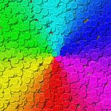 Rainbow gradient sewing buttons generated background Stock Image