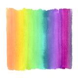 Rainbow gradient. The rainbow gradient in the technique of watercolor Stock Photo
