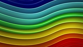 Rainbow gradient wavy curves abstract 3D rendering. Rainbow gradient wavy curves. Abstract 3D rendering Vector Illustration